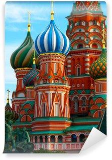 Vinylová Fototapeta St Vasila Blaženého na Rudém náměstí, Moskva, Rusko.