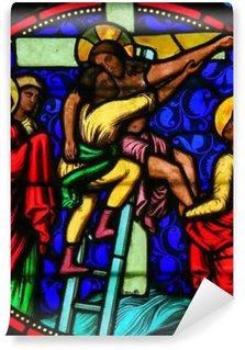 Vinylová Fototapeta Stained Glass - Ježíš převzaty z kříže