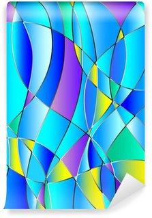 Fototapeta Vinylowa Stained tekstury szkło, niebieski sygnał, wektorowe