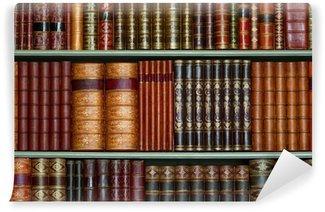 Vinylová Fototapeta Stará knihovna historických pevný kryt knih na policích