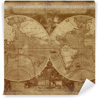 Fototapeta Winylowa Stara mapa świata