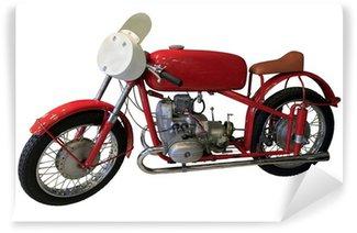 Vinylová Fototapeta Staré červené sportovní motocykl