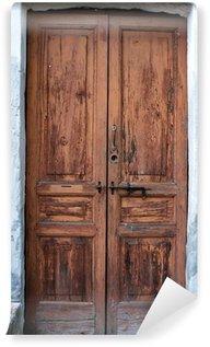 Vinylová Fototapeta Staré dřevěné dveře color image