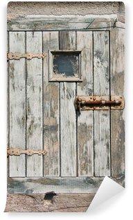 Vinylová Fototapeta Staré dřevěné dveře