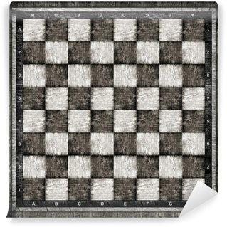 Vinylová Fototapeta Staré dřevěné šachovnici