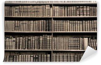 Vinylová Fototapeta Staré knihy v knihovně - sépie obrázek
