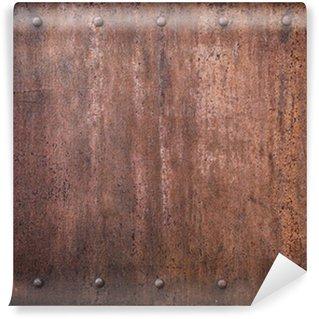 Vinylová Fototapeta Staré kovové pozadí s nýty