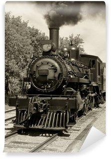 Vinylová Fototapeta Staré lokomotiva sépie