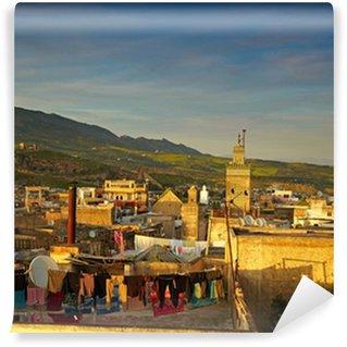 Vinylová Fototapeta Staré město Maroka - Fes. Pohled na Medina