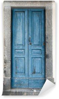 Vinylová Fototapeta Staré modré dveře