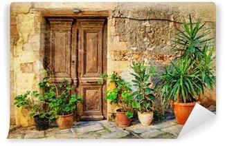 Vinylová Fototapeta Staré obrazové Řecké dveře