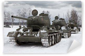 Vinylová Fototapeta Staré ruské tanky
