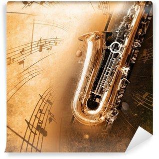 Vinylová Fototapeta Staré saxofon s špinavé pozadí
