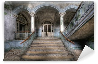 Vinylová Fototapeta Staré schody v Beelitz