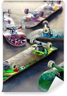 Vinylová Fototapeta Staré Skateboards