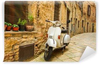 Vinylová Fototapeta Staré Vespa skútr na ulici v Itálii