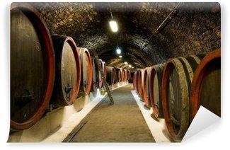 Vinylová Fototapeta Staré víno sudy