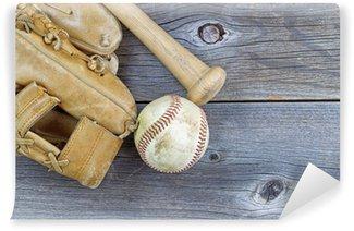 Vinylová Fototapeta Staré zařízení Baseball na věku dřevo