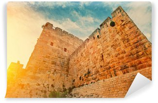 Vinylová Fototapeta Staré zdi ve staré město Jeruzalém