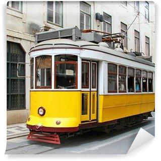 Vinylová Fototapeta Staré žlutá Lisabon tramvají, Portugalsko
