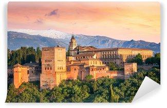 Vinylová Fototapeta Starověká arabská pevnost Alhambra v krásném večer