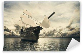 Vinylová Fototapeta Starověké lodi v moři
