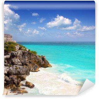 Vinylová Fototapeta Starověké mayské zříceniny Tulum tyrkysová Caribbean