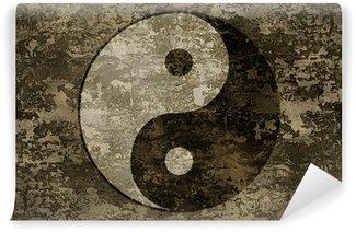 Vinylová Fototapeta Starověké orientální symbol jin-jang