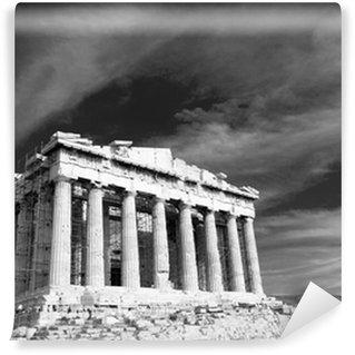 Vinylová Fototapeta Starověké Parthenon v Aténách Acropolis Řecku černá a bílá