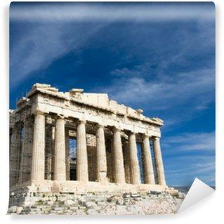 Vinylová Fototapeta Starověké Parthenon v Aténách Acropolis v Řecku na modré obloze backgro