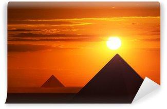 Vinylová Fototapeta Starověké pyramidy v západu slunce