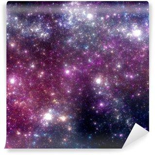 Vinylová Fototapeta Stars pozadí. Purple galaxie.