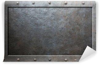 Vinylová Fototapeta Starý kovový rám s nýty