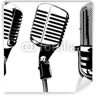Vinylová Fototapeta Starý mikrofon