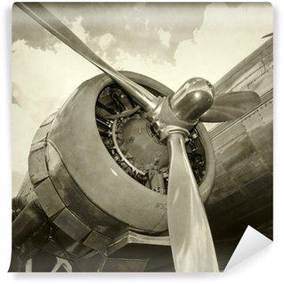 Vinylová Fototapeta Starý motor a vrtule