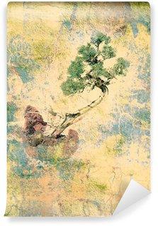 Vinylová Fototapeta Starý pergamen bonsai