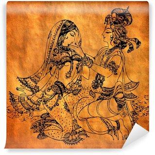 Vinylová Fototapeta Starý Radha Krishna malba