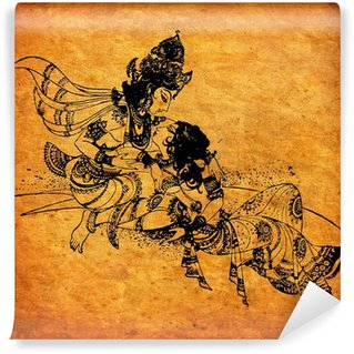 Vinylová Fototapeta Starý Radha Krishna obrazy