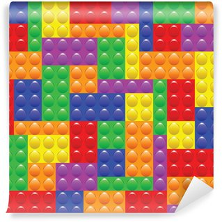 Vinylová Fototapeta Stavba Lego bloky