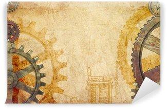 Vinylová Fototapeta Steampunk Gears a Cogs pozadí