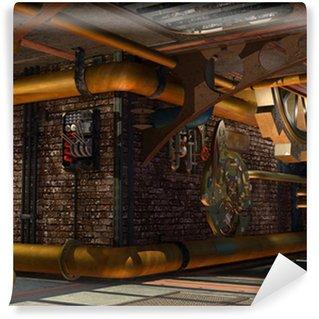 Vinylová Fototapeta Steampunk konstrukce