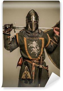 Vinylová Fototapeta Středověký rytíř s mečem