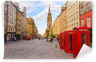 Vinylová Fototapeta Street view of Edinburgh, Skotsko, Velká Británie