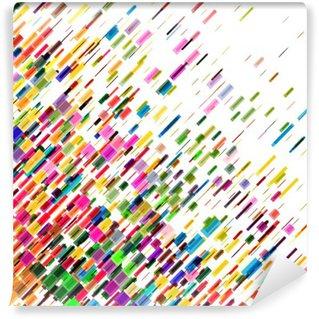 Fototapeta Winylowa Streszczenie kolorowe ruchome linie, wektor tła