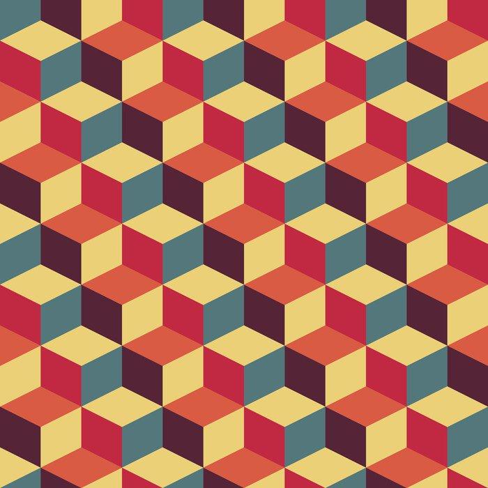 Fototapeta Vinylowa Streszczenie retro geometryczny wzór - Tematy