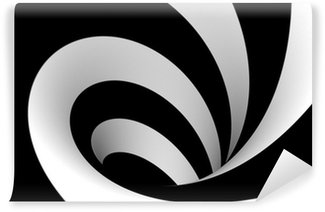 Fototapeta Winylowa Streszczenie spirali w czerni i bieli