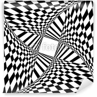 Fototapeta Winylowa Streszczenie tle efekt optyczny iluzji.