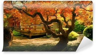 Vinylová Fototapeta Strom v asijské zahradě