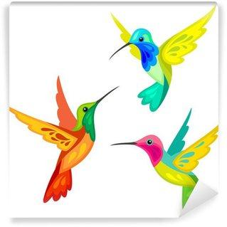 Vinylová Fototapeta Stylizované kolibříci