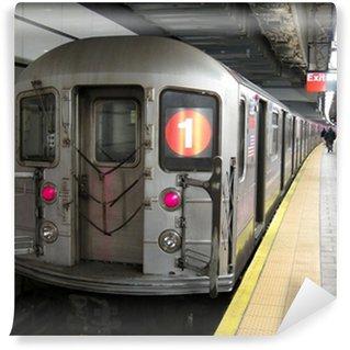 Vinylová Fototapeta Subway vlak